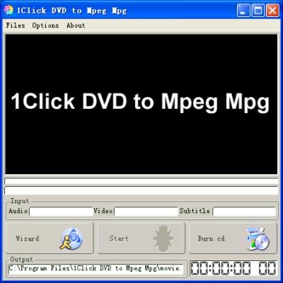 1Click DVD to Mpeg Mpg 1.13 screenshot