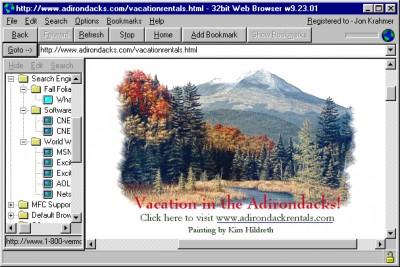 32bit Web Browser 16.08.01 screenshot