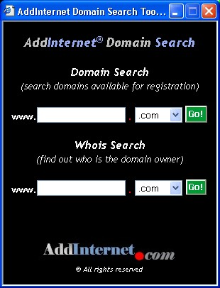 AddInternet Domain Search 5.0.8 screenshot