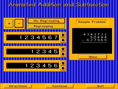 Animated Arithmetic 1.0 screenshot
