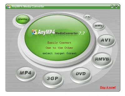 AnyMP4 Media Converter 8.0 screenshot