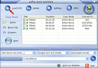 AoA DVD Ripper 5.4.5.7 screenshot