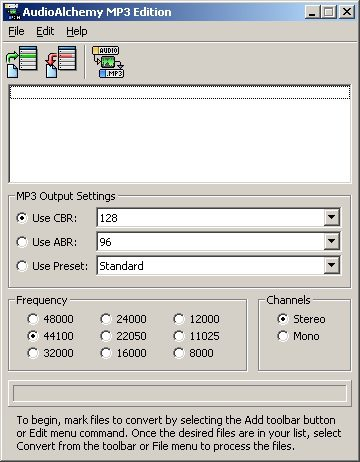 AudioAlchemy MP3 Edition 3.01 screenshot
