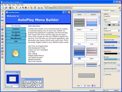 AutoPlay Menu Builder 5.2.0.1072 screenshot