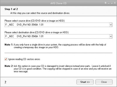 AVS Clone CD 3.8.1.35 screenshot