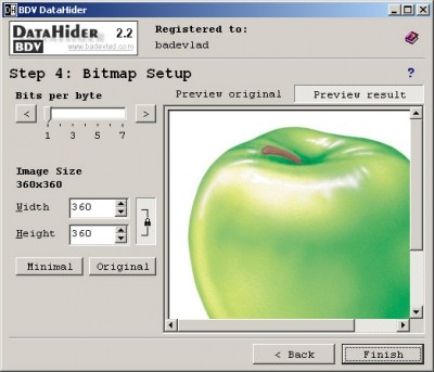BDV DataHider 2.2 screenshot