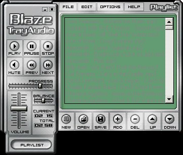 Blaze TrayAudio 3.0 screenshot