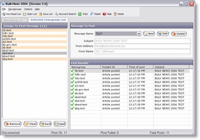 Bulk News 2006 3.0 screenshot