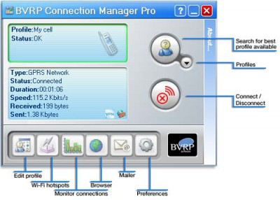 BVRP Connection Manager Pro 1.0 screenshot