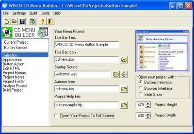 CD Menu Builder 1.03 screenshot