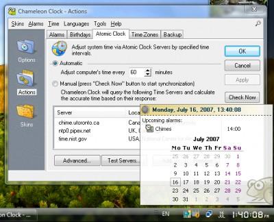 Chameleon Clock 5.1 screenshot