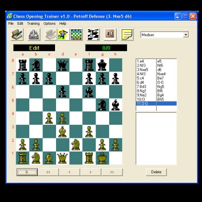 Chess Opening Trainer 1.1 screenshot