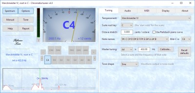 Chromatia Tuner 4.0 screenshot