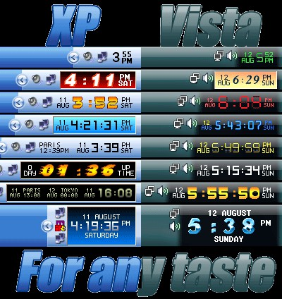 Clock Tray Skins Lite 2.1 screenshot