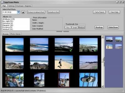 CopyTrans Photo 1.27 screenshot