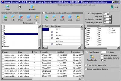 Domain Quester Pro 6.02 screenshot