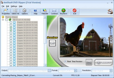 dvdXsoft DVD Ripper 1.23 screenshot
