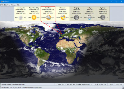 EarthTime 5.14.4 screenshot