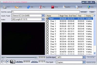 Ease DVD To Audio Ripper 2.00 screenshot