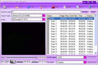 EASE DVD TO MP3 Ripper 1.70.7 screenshot