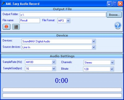 Easy Audio Record 2.0.18 screenshot