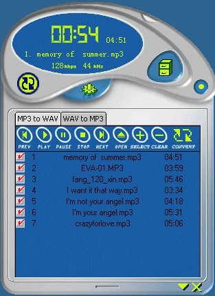 Easy MP3 Wav Converter 2.5.2 screenshot
