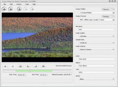 Easy Video to Audio Converter 3.0.0411 screenshot