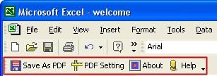 Excel to PDF Converter 4.0 screenshot