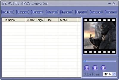 EZ AVI TO MPEG Converter 3.70.30 screenshot