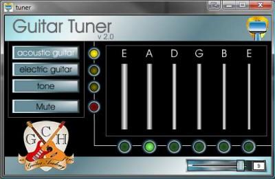 Free Guitar tuner 2.00 screenshot