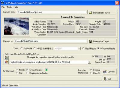 Fx Video Converter 7.51.23 screenshot