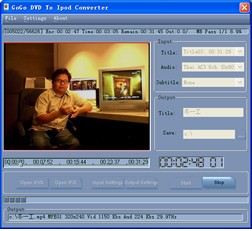 Gogo DVD To Ipod Converter 1.2 screenshot