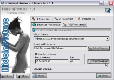 HideInPicture 1.1 screenshot