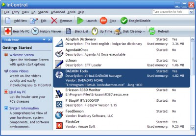 InControl 3.0.03 screenshot
