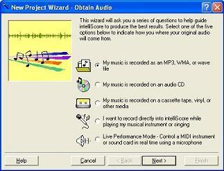Intelliscore Polyphonic WAV to MIDI Converter 8.0.1 screenshot