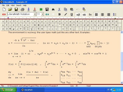 LiteralMath 2.5 screenshot