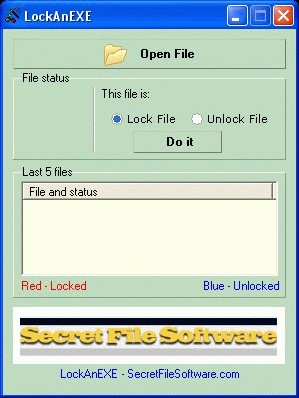 LockAnEXE 1.25 screenshot