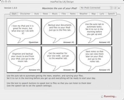 MaxPod 1.6.0 screenshot