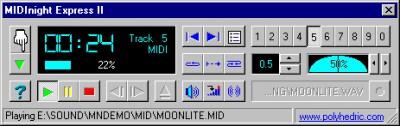 MIDInight Express 2.7 screenshot