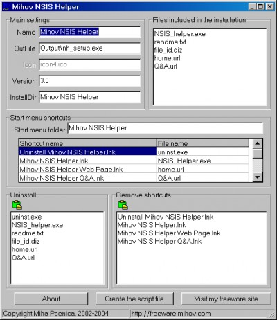 Mihov NSIS Helper 3.3 screenshot