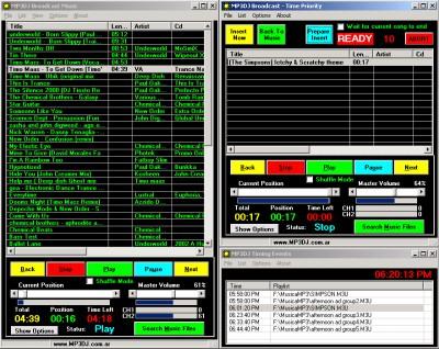 MP3DJ Broadcast 3.1 screenshot
