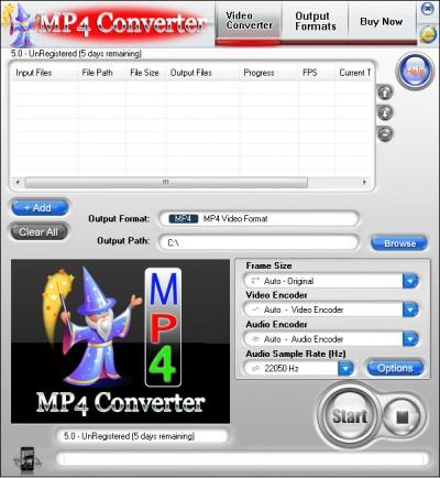 MP4 Converter 3.1.50.010 screenshot
