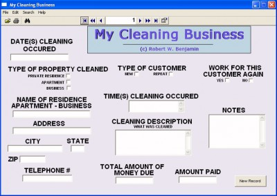 My Cleaning Business 10.0 screenshot