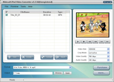 Nidesoft iPod Video Converter 2.4.66 screenshot