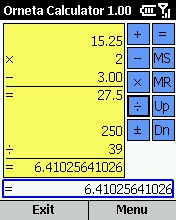 Orneta Calculator for Smartphone 2002 1.0.2 screenshot
