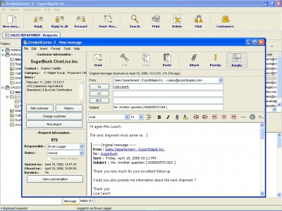 OroMailCenter 2.19 screenshot