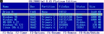 OSL2000 Boot Manager 9.30 screenshot