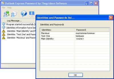 Outlook Express Password 1.3 screenshot