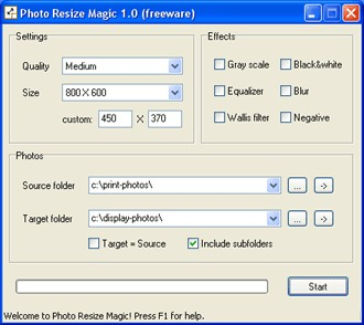 Photo Resize Magic 1.1 screenshot