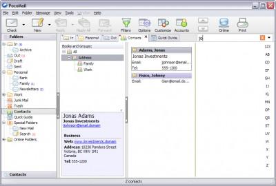 PocoMail 4.1 screenshot